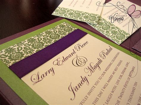 purple and green wedding invitations purple and green wedding invitation flickr photo