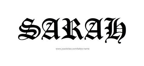 tattoo name sara sarah name tattoo designs