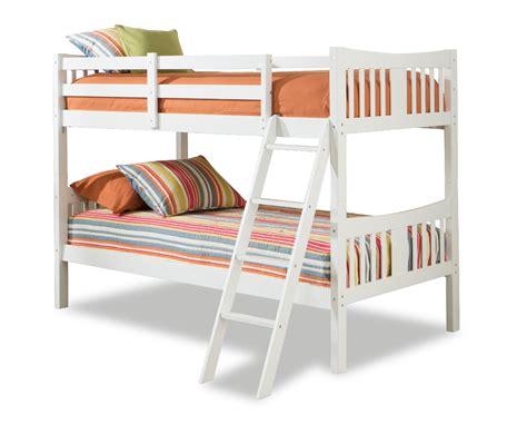 storkcraft caribou bunk bed white