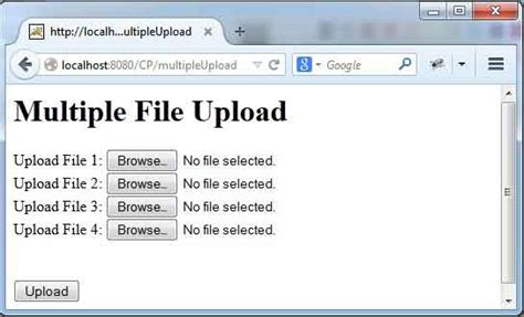 spring 4 mvc file upload exle spring 4 mvc single and multiple file upload exle with