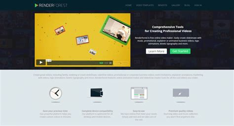render forest ハイクオリティなサービス紹介のプロモ動画やスライドショーをカンタンに作成できる renderforest