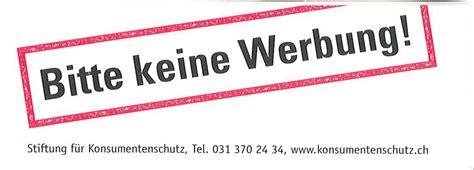 Keine Werbung Aufkleber Pdf by Kleber Bitte Keine Werbung Stiftung F 252 R