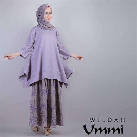 Gamis Terbaru Februari 2016 Wildah Lavender Baju Muslim Gamis Modern