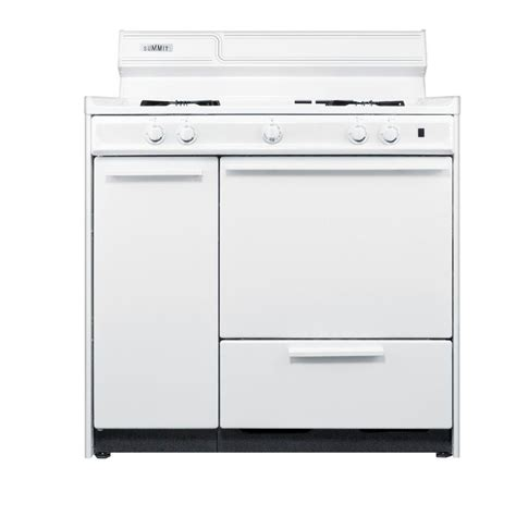 summit appliance 36 in 2 9 cu ft gas range in white