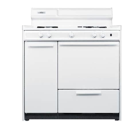 summit appliance 36 in 2 9 cu ft gas range in white