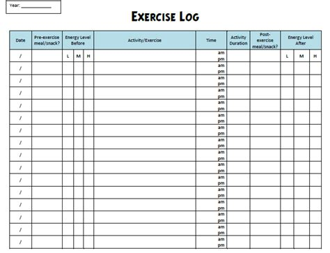 fitness program template free loss pills walmart cardio exercise program template