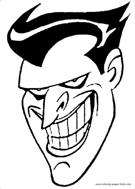 batman head coloring page the joker s head coloring page batman color pages free