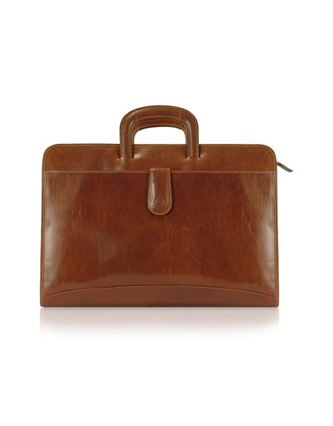 Handmade Briefcase - chiarugi handmade brown genuine italian leather portfolio