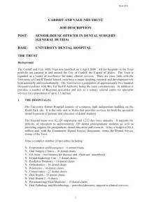 post senior house officer in dental surgery general duties