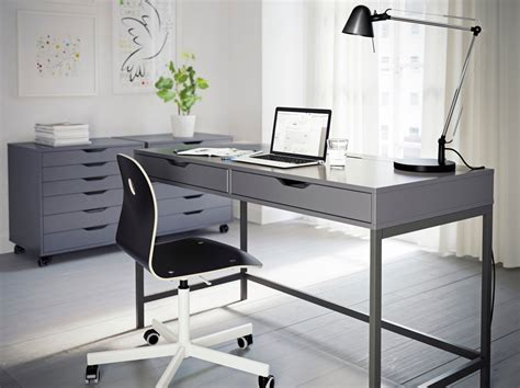 Grey Office Desks Home Office Furniture Ideas Ikea