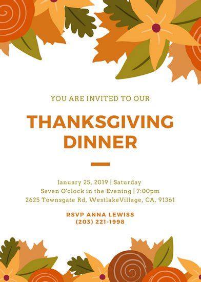 Invitation Templates Canva Thanksgiving Prayer Template