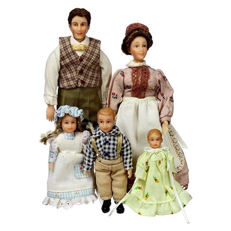 5 dollhouse dolls peterson country family of 5 dollhouse miniature