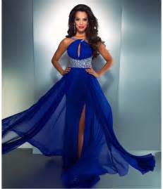 royal blue dress mac duggal prom 2013 electric blue high from unique vintage
