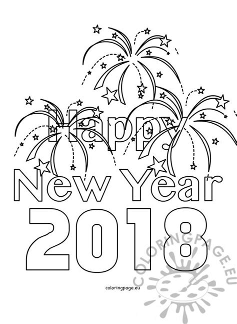 Coloring Pages 2018 Happy New Year 2018 Kids Coloring Coloring Page by Coloring Pages 2018
