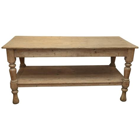 kitchen work tables antique large 19th century pine kitchen work table at 1stdibs