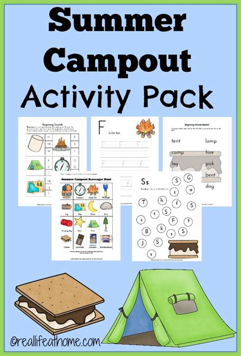 printable preschool summer activities summer c out printables and activities real life at home
