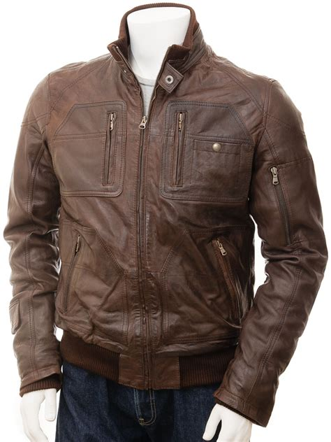 Jaketexpress Boomber Brown Jacket Boomber s bomber leather jacket in brown bristol caine