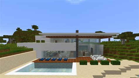 Simple Roof Designs by Minecraft Simple Modern Safari House Villa Estate By The