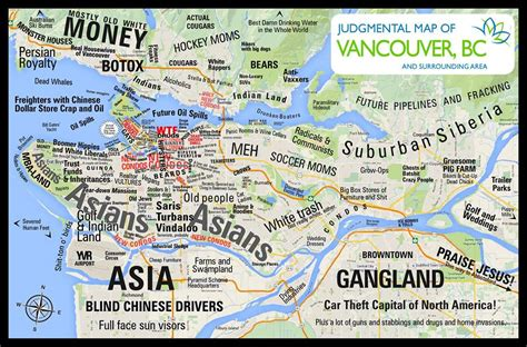 map of vancouver this judgmental map of vancouver will make you uncomfortable