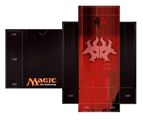 magic card deck box template rakdos guild deckbox template by lumberjacksquid on deviantart