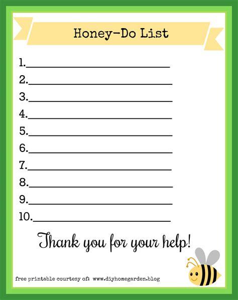 printable printable honey do list task ideas couples shower bridal