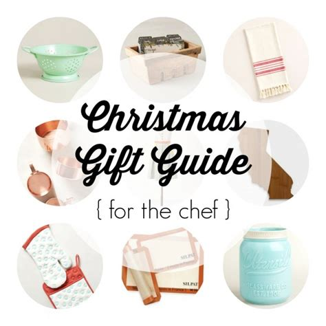 christmas gift guide for the chef the pleated poppy