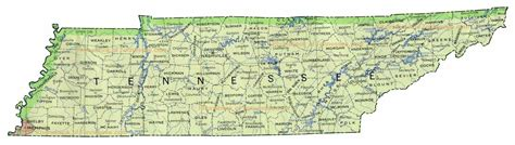 map usa tennessee state of tennessee tn