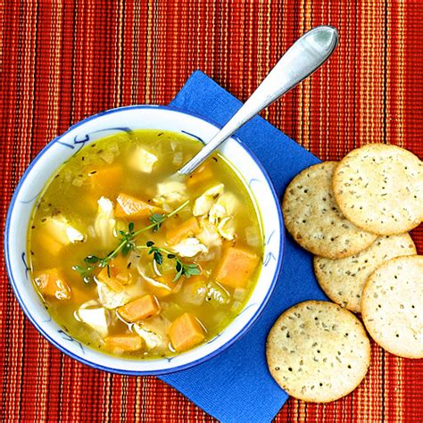carbohydrates 14g sweet potato and chicken soup