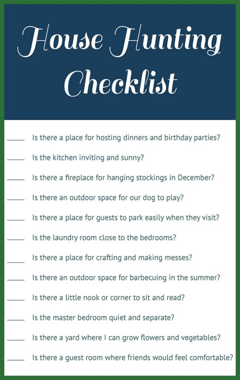 questions to ask when looking at a house to buy our house hunting checklist
