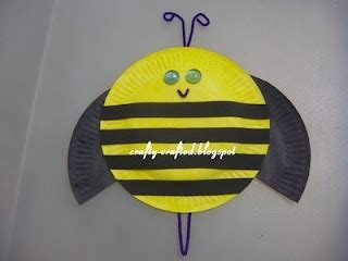 Bumble Bee Paper Plate Craft - paper plate bumblebee april