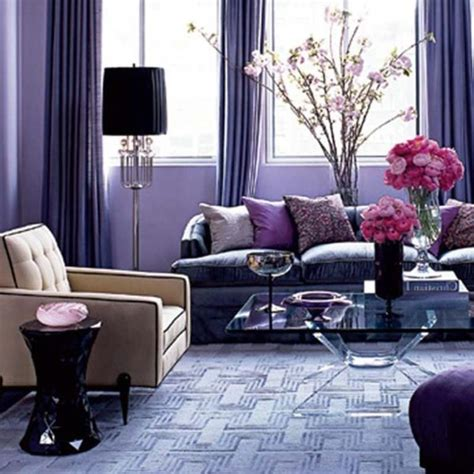 Purple Home Decor Ideas | romantic purple living room brown and purple living room