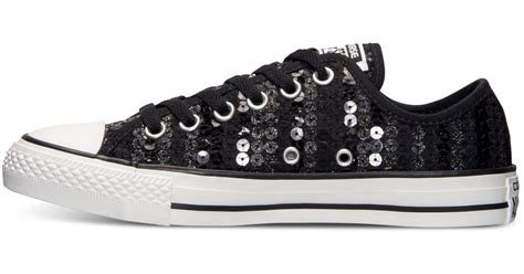 sequin sneakers lyst converse s chuck ox sequin casual