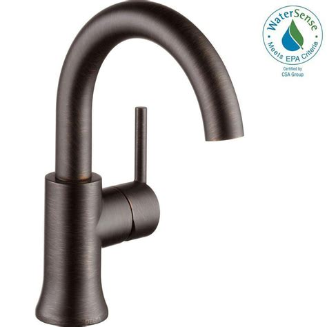 bronze sink drain assembly delta trinsic single single handle bathroom faucet