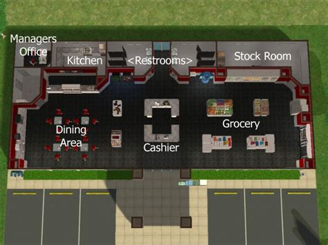 gas station floor plan sunni designs for sims 2