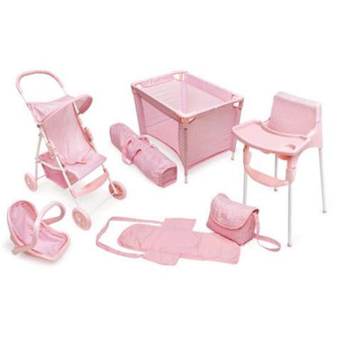baby doll beds walmart badger basket 5 piece doll play set with playpen walmart com