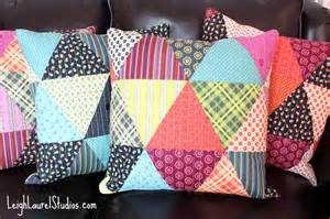 Tutorial Patchwork - tutorial patchwork triangle pillows karin studio