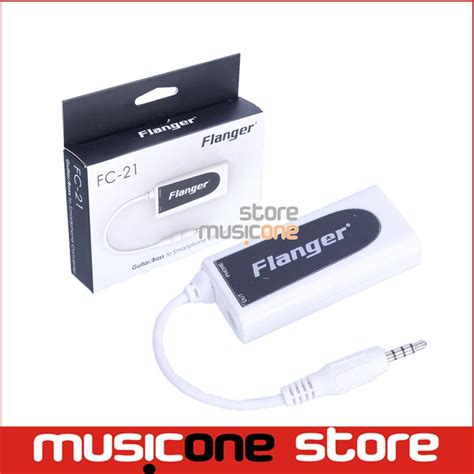 Flanger Guitar Interface Adapter For Iphone Ipod Touch Fc 20 Blac flanger fc 21 converter adapter for cell phone iphone and android phone to guitar bass touch