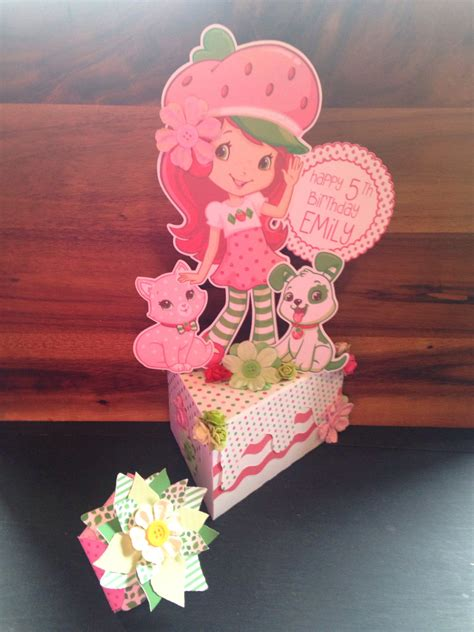 strawberry shortcake centerpiece by addybugs on etsy