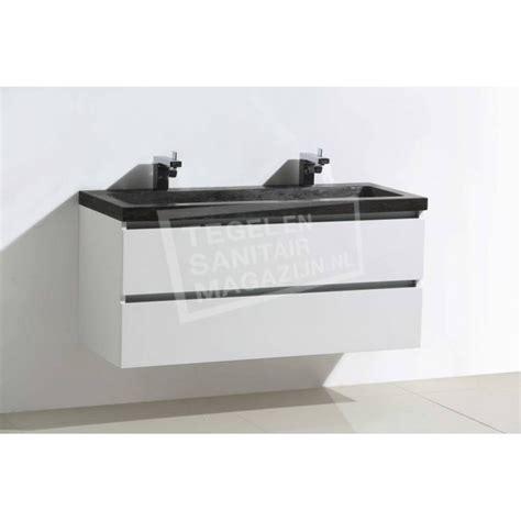 natuursteen badkamermeubel sanilux natuursteen badkamermeubel glans wit 120cm 2