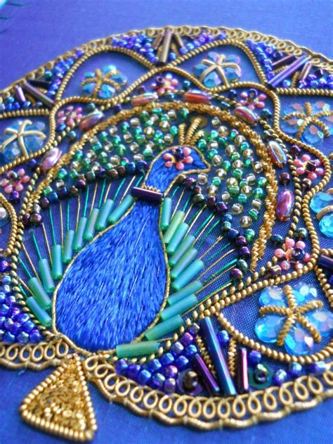 String Peacock Pattern - 607 best bead embroidery images on