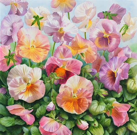 paintings of flowers commissions of rose and flower paintings