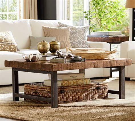 pottery barn griffin coffee table griffin reclaimed wood coffee table pottery barn