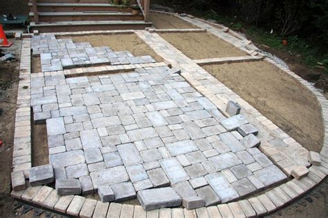 how to install pavers in backyard paver patio installation home design