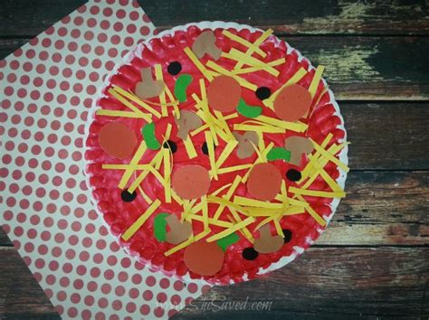 Paper Plate Food Crafts - paper plate pizza craft idea shesaved 174