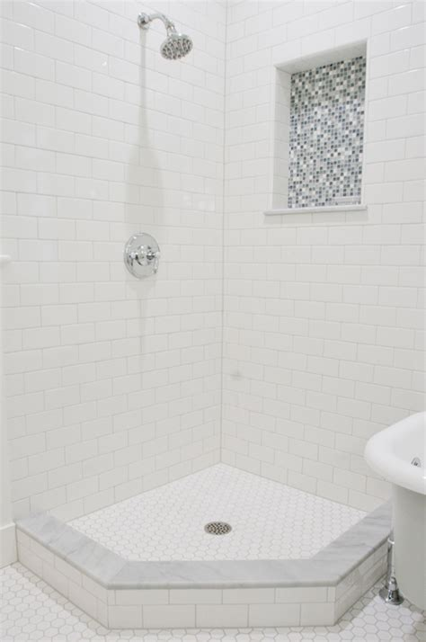 Corner shower contemporary bathroom tiek built homes