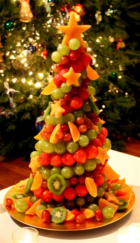 how to make christmas fruits fruit tree