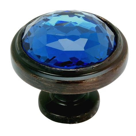 Blue Glass Cabinet Knobs by Rubbed Bronze Blue Glass Cabinet Knob