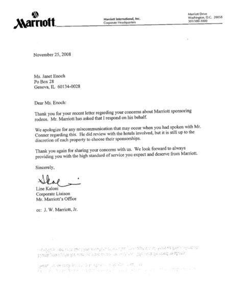 Sponsorship Letter Rodeo Marriott Back In Rodeo