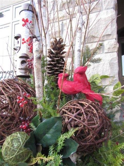 winter outdoor decor pin by diana mcmillin on ideas for outside in my yard