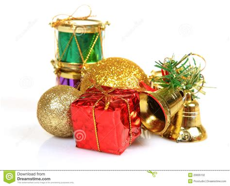 christmas gifts and decoration items stock photo image